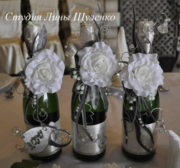 Бокалы на свадьбу цветами